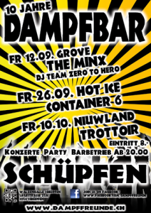Flyer Dampfbar 2014